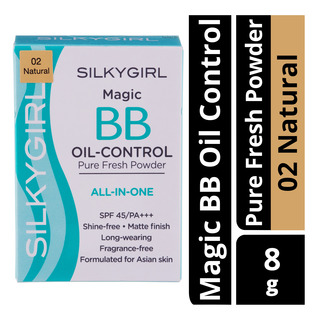 Silkygirl Magic BB Oil Control Pure Fresh Powder - 02 Natural