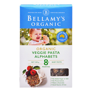Bellamy's Organic Baby Pasta - Veggie Pasta Alphabets
