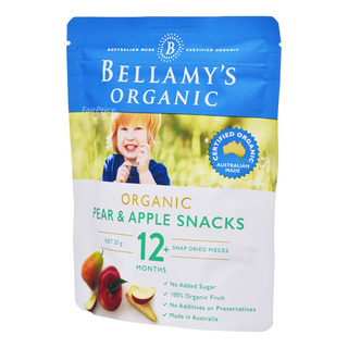 Bellamy's Organic Baby Snack - Pear & Apple