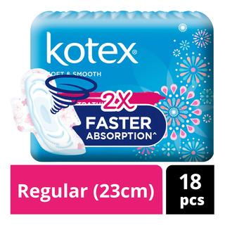 Kotex Soft & Smooth Ultrathin Wing Pads - Regular(23cm)