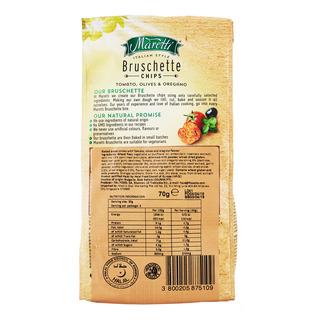 Maretti Bruschette Chips - Tomato, Olives & Oregano