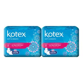 Kotex Soft & Smooth Ultrathin Wing Pad - Regular(23cm)