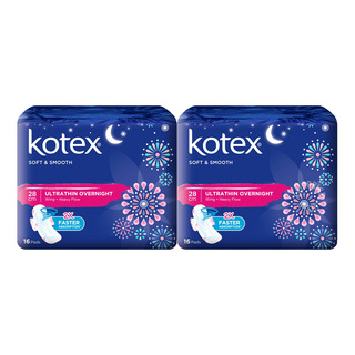 Kotex Soft & Smooth Ultrathin Wing Pads - Heavy (28cm)