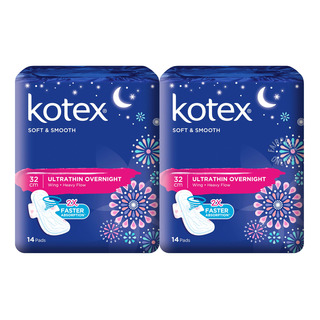 Kotex Soft & Smooth Ultrathin Wing Pads - Heavy (32cm)