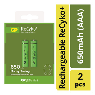 GP Rechargeable ReCyko+ Battery - 650mAh (AAA)