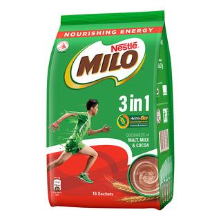 Milo 3 in 1 Instant Chocolate Malt Drink - Regular