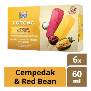 King's Potong Ice Cream - Cempedak & Red Bean