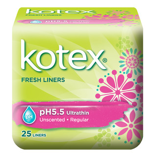 Kotex pH5.5 Ultrathin Fresh Liners - Unscented (Regular)