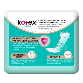 Kotex Anti-Bacteria Ultrathin Freshliners - Regular