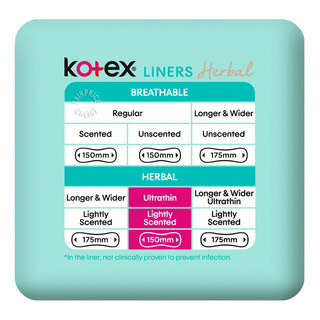Kotex Anti-Bacteria Ultrathin Freshliners - Regular