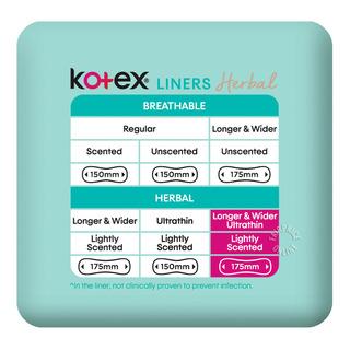 Kotex Anti-Bacteria Ultrathin Freshliners - Longer & Wider