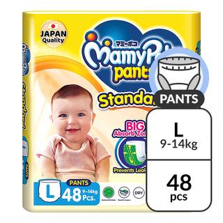 MamyPoko Standard Diaper Pants - L (9 - 14kg)