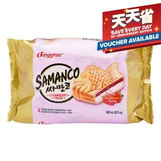 Binggrae Samanco Ice Cream Sandwich - Strawberry