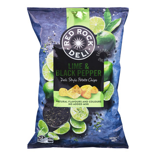 Red Rock Deli Style Potato Chips - Lime & Black Pepper