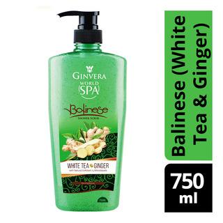 Ginvera World Spa Shower Scrub - Balinese (White Tea & Ginge
