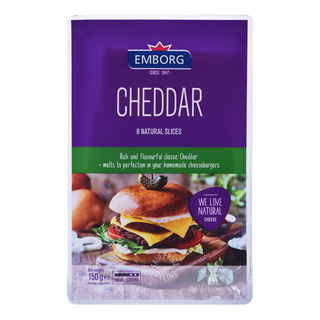 Emborg Natural Cheese Slices - Cheddar