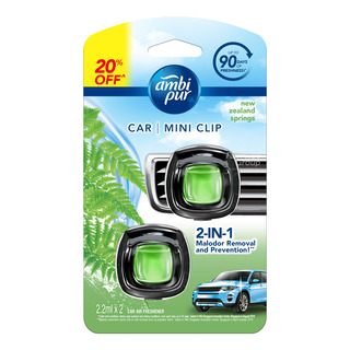 Ambi Pur Car Mini Clip Air Freshener - New Zealand Springs