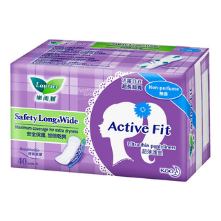 Laurier Active Fit Panty Liners - Safety Long & Wide