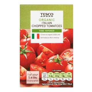 Tesco Organic Chopped Tomatoes