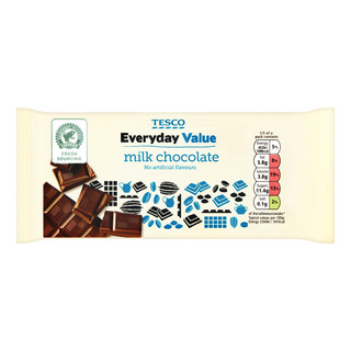 Tesco Everyday Value Chocolate Bar - Milk