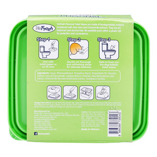 NuFresh Personal Toilet Wipes