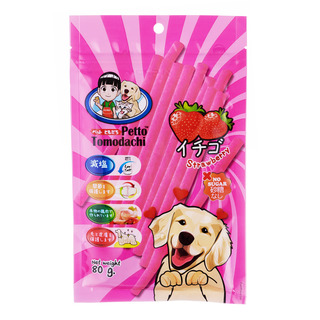 Petto Tomodachi Dog Snack - Strawberry