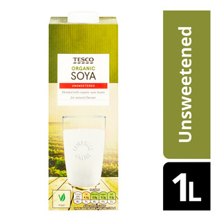 Tesco Organic UHT Soya Milk - Unsweetened