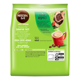 Nescafe 3 in 1 Instant Coffee - Original (Less Sugar)