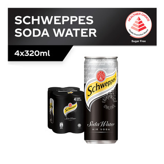 Schweppes Carbonated Can Drink - Soda Water