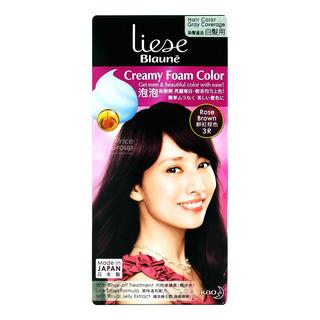 Liese Blaune Creamy Foam Hair Colour - Rose Brown (3R)