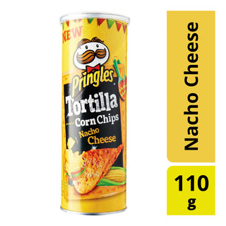 Pringles Tortilla Corn Chips - Nacho Cheese 110g  FairPrice
