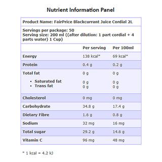 FairPrice Juice Cordial - Blackcurrant