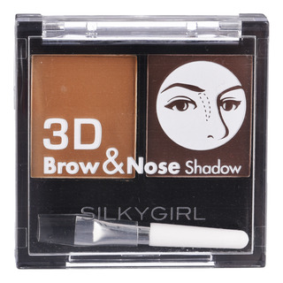 Silkygirl Expert Brow & Nose Shadow - 01 Dark Brown
