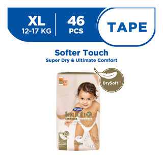 Drypers Touch Diapers - XL (12 - 17kg)