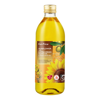 FairPrice Sunflower Olive & Mixed Seeds Oil - Mild & Fruity 1L