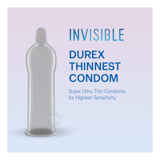 Durex Condom - Invisible Extra Sensitive (52mm)