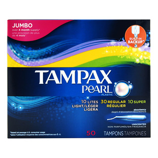 Tampax Pearl Tampons - Jumbo (Unscented)