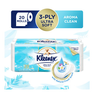 Kleenex Ultra Soft Toilet Tissue Rolls - Aroma Clean