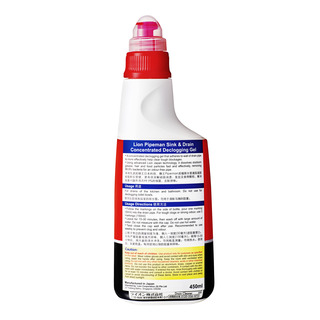 Lion Pipeman Concentrated Declogging Gel - Sink & Drain