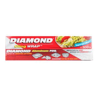 Diamond Aluminum Foil (7.6m) + Cling Wrap (30m)