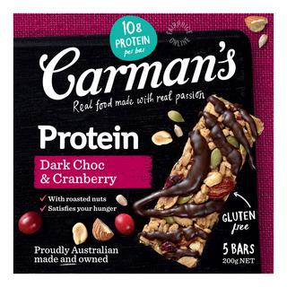 Carman's Gourmet Protein Bars - Dark Chocolate & Cranberry