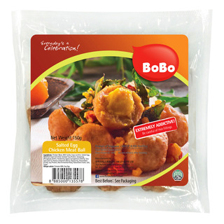 BoBo Frozen Chicken Meat Ball - Salted Egg