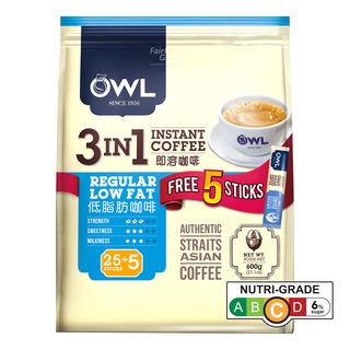 Owl 3 in 1 Instant Coffee - Regular Low Fat