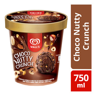 Wall's Ice Cream Tub - Choco Nutty Crunch