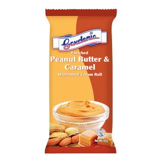 Gardenia Wholemeal Cream Roll - Peanut Butter & Caramel