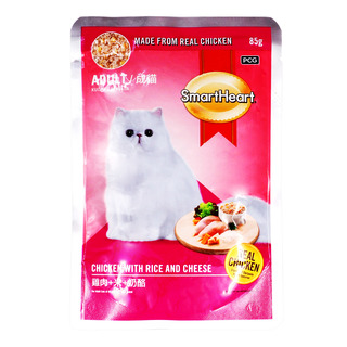 SmartHeart Adult Cat Packet Food - Chicken with Rice & Cheese