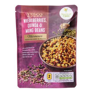 Tesco Microwave Meal in Pouch - Wheatberries, Quinoa & Mung Beans