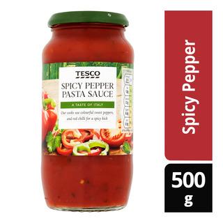 Tesco Pasta Sauce - Spicy Pepper