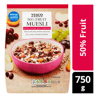 Tesco Muesli Cereal Flakes - 50% Fruit