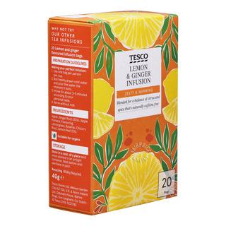 Tesco Infusion Tea Bags - Lemon & Ginger